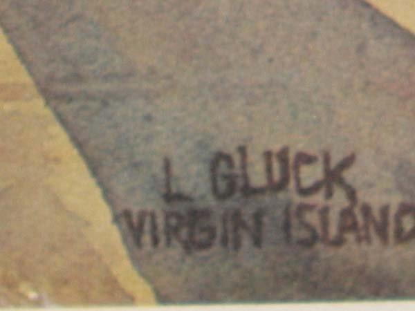 103: L. GLUCK WATERCOLOR PRINT   - 3