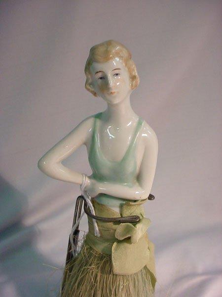 3: HALF DOLL GERMAN WHISK BROOM FLAPPER 1920'S.  MARK