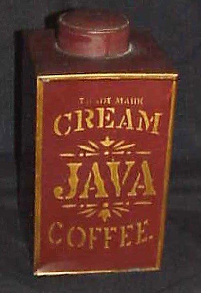 16: J.W. HAMBLET - GREAT EAGLE COFFEE ADVERTISING TIN.