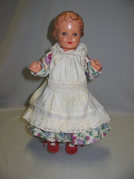 85: GERMAN CELLULOID TURTLE MARK VINTAGE GIRL DOLL.  V - 2