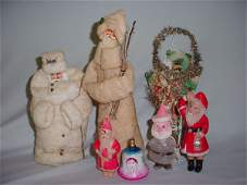 382: CHRISTMAS SANTA FIGURES MIXED JAPAN CANDY 7 PC. M