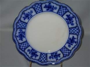 FLO BLUE PLATE, SCALLOPED EDGE