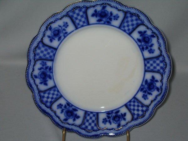 2: FLO BLUE PLATE, SCALLOPED EDGE