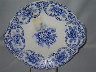 FLO BLUE SERVING PLATTER, MEISSEN