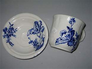 FLO BLU CUP/SAUCER COLONIAL POTTERY