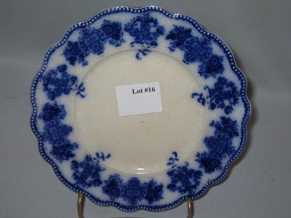 "16: FLO BLUE DESSERT PLATE ""CLARENCE"""