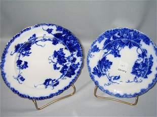 FLO BLUE DESSERT PLATES (2)