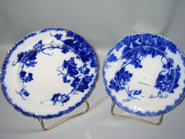 23: FLO BLUE DESSERT PLATES (2)