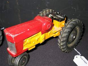 ERTL CO. TOY TRACTOR (RED & YELLOW)