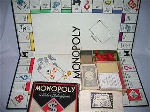 EARLY MONOPOLY GAME, 1936 W/ORIGINAL BOX.