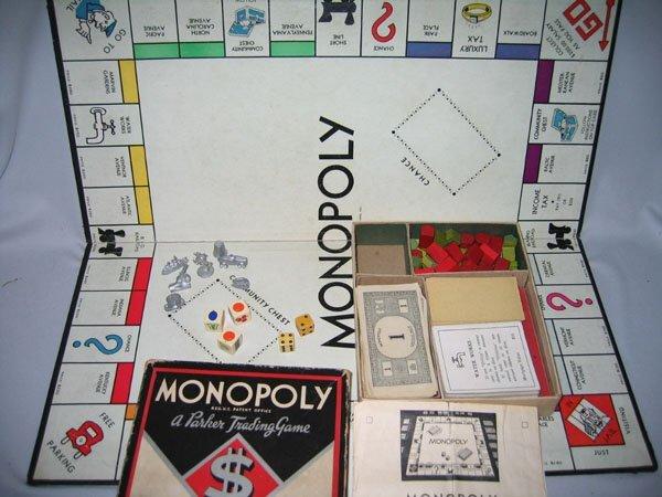 420: EARLY MONOPOLY GAME, 1936 W/ORIGINAL BOX.