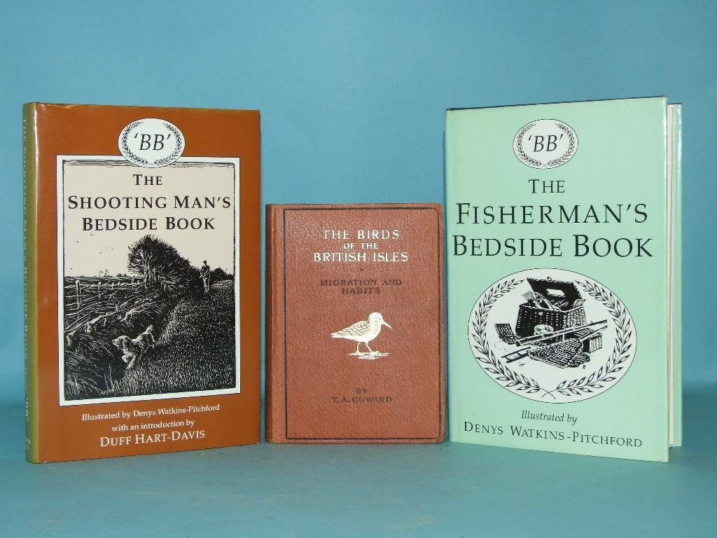 Assorted sporting books, including The Shooting Man's