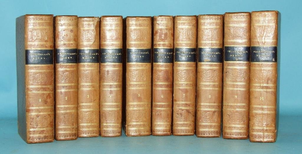 Shakespeare (W), Works of, 10 vols, calf, and other