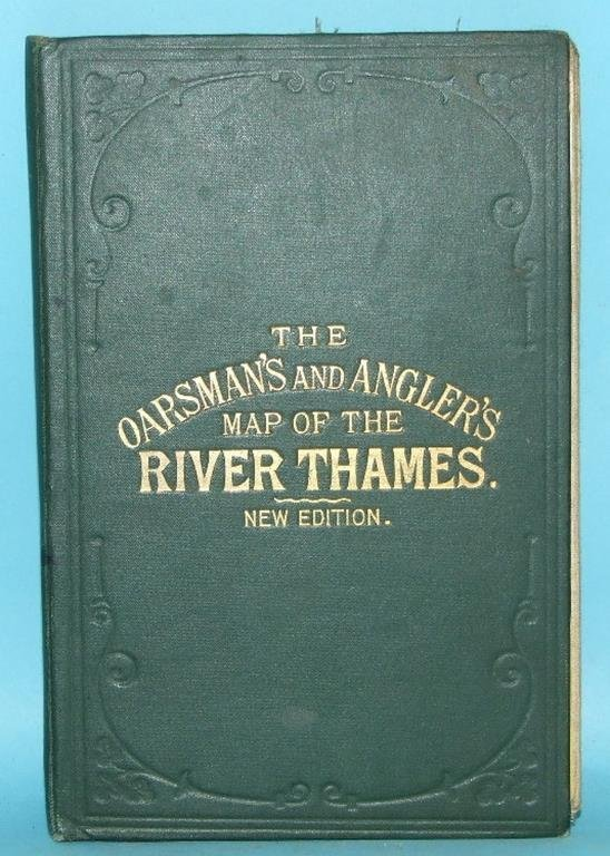 The Oarsman's and Angler's map of the River Thames, new