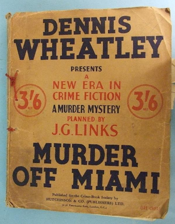 Wheatley (Dennis), Murder off Miami and four others by