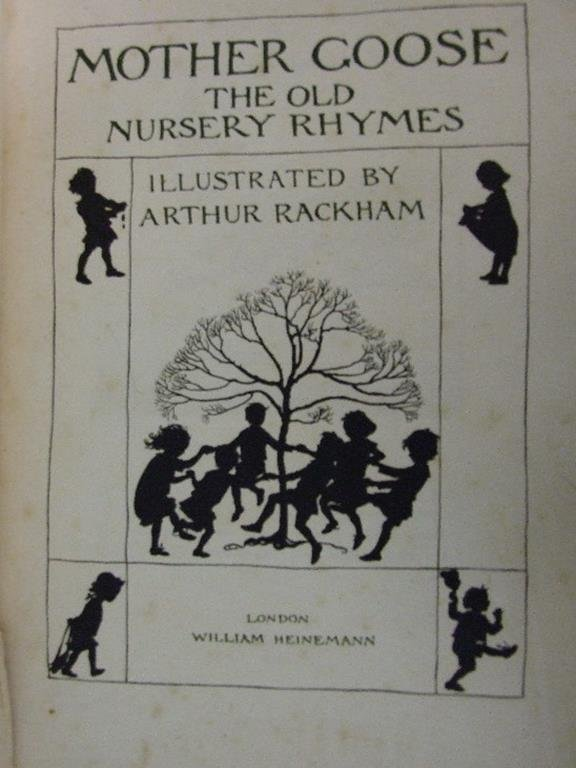 Mother Goose, The Old Nursery Rhymes, illus tipped in
