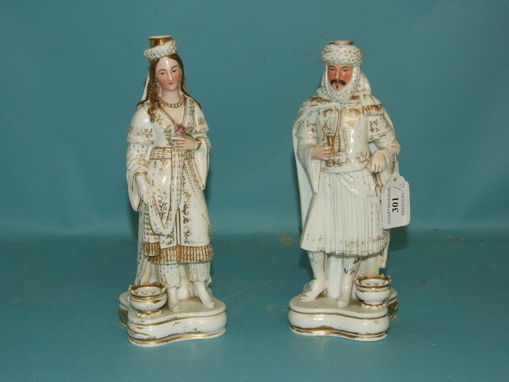 A pair of 19th century Jacob Petit scent bottles, in