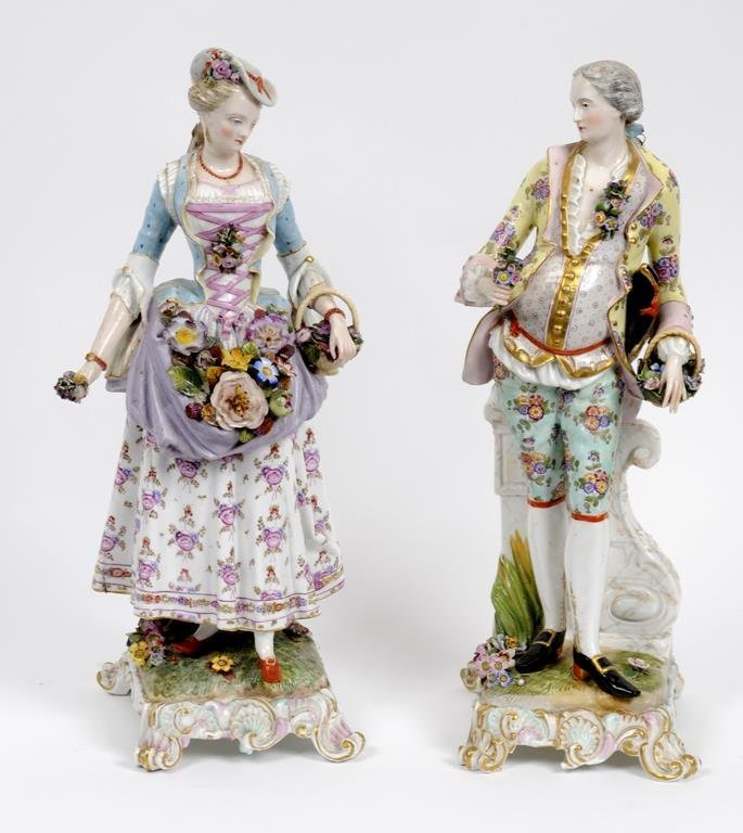 A large Meissen porcelain figure, of a gentleman, the