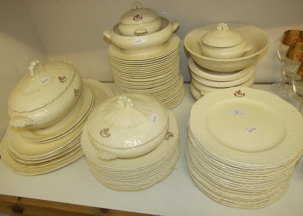 A Soane & Smith dinner service, crested (a.f.) (qty)
