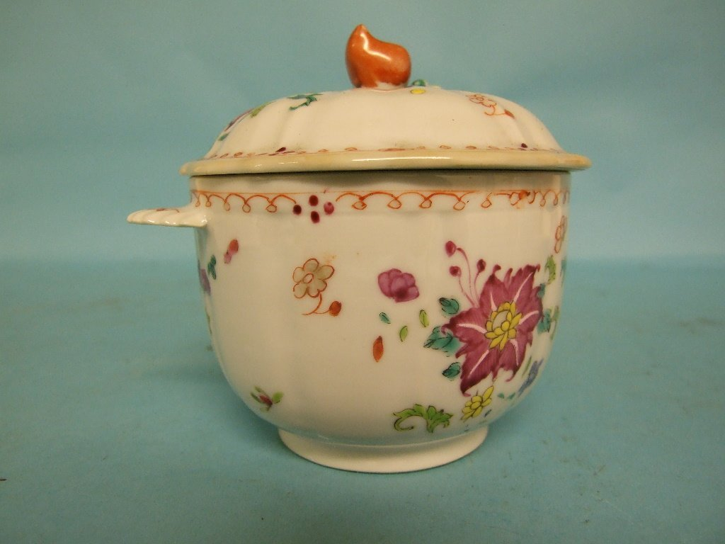A Chinese porcelain jar and cover, with floral