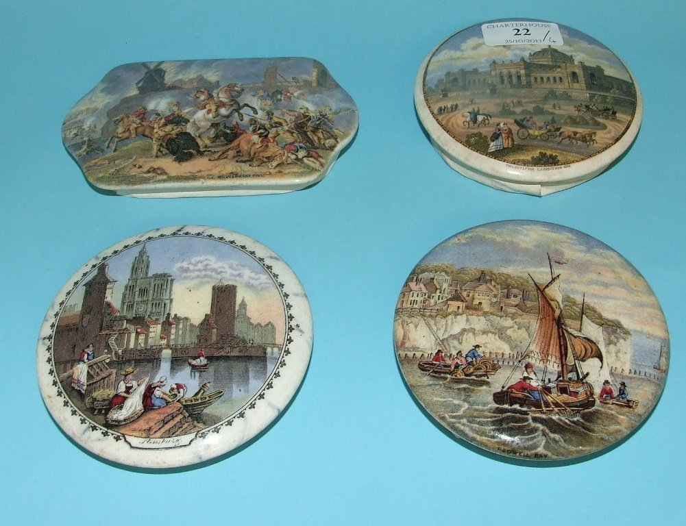 A pot lid, Strasbourg, and three others similar (a.f.)