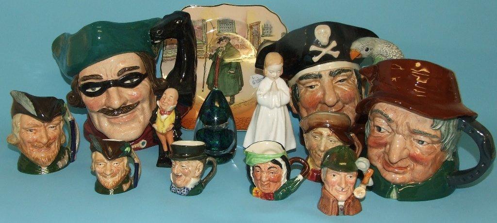 A Royal Doulton large character jug, Dick Turpin,