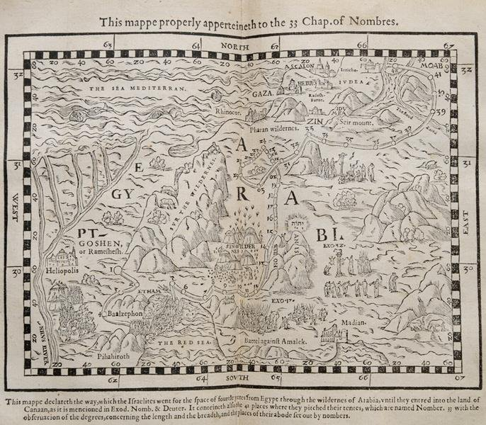 A Geneva Bible, with maps and other illustrations,