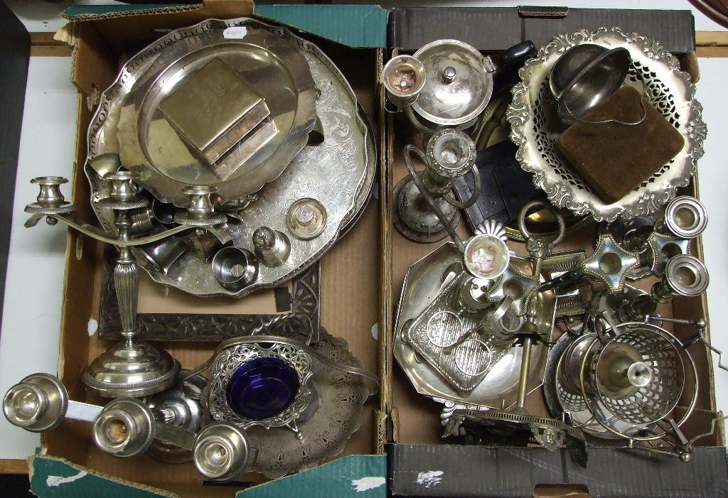 Assorted silver plate (2 boxes)