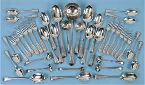 A table service of silver Old English and bead edge