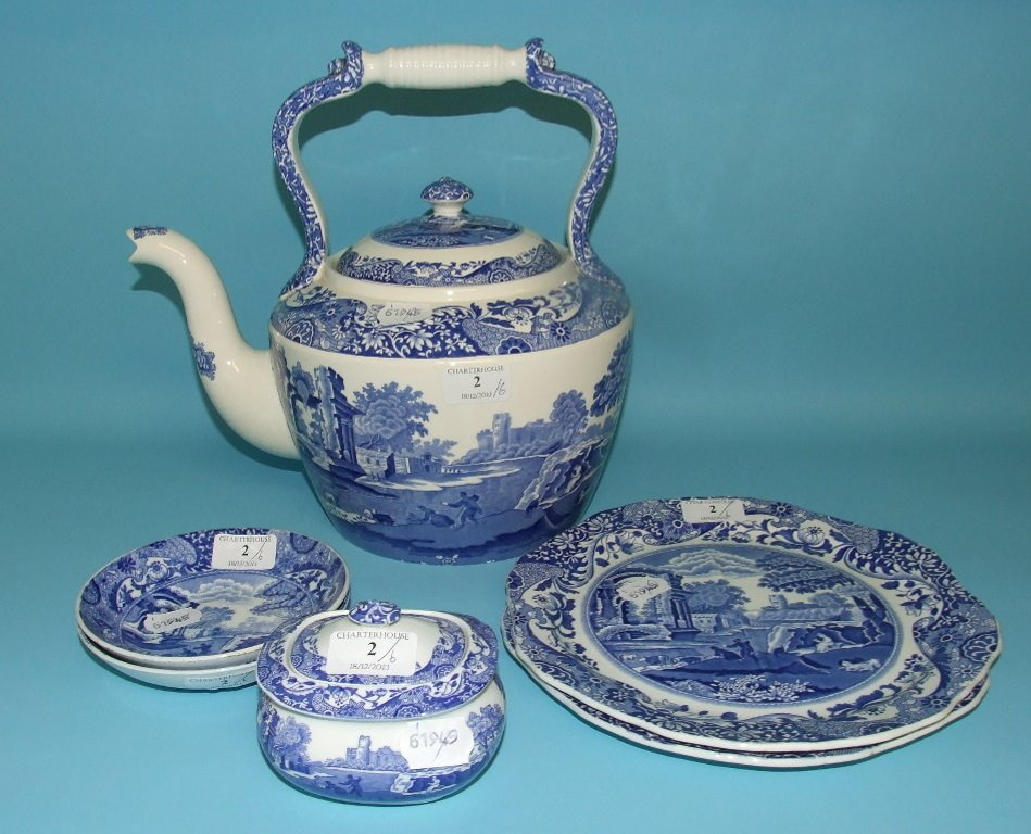 A Copeland Spode Italian pattern kettle and cover, 29