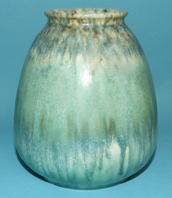 A Ruskin pottery crystalline glaze vase, 1933, 13.5 cm
