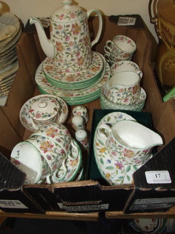 A Minton Haddon Hall pattern dinner and tea service,