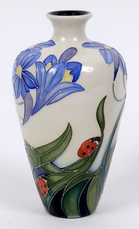 A Moorcroft pottery Fly Away Home pattern vase,