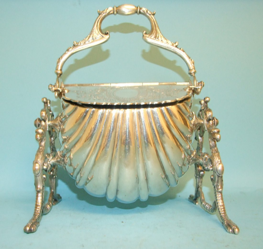 A silver plated entree dish
