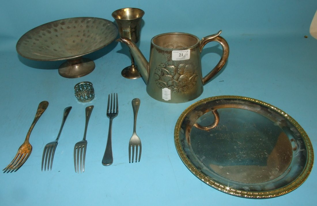 Assorted silver plated items, and other metalwares