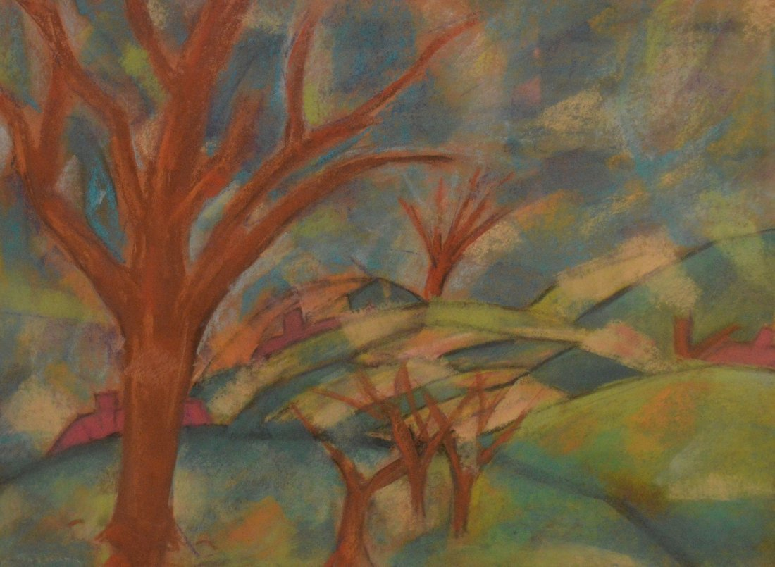 """""""Landscapre With Trees"""" Circa 1930's by Andrew Dasburg"""
