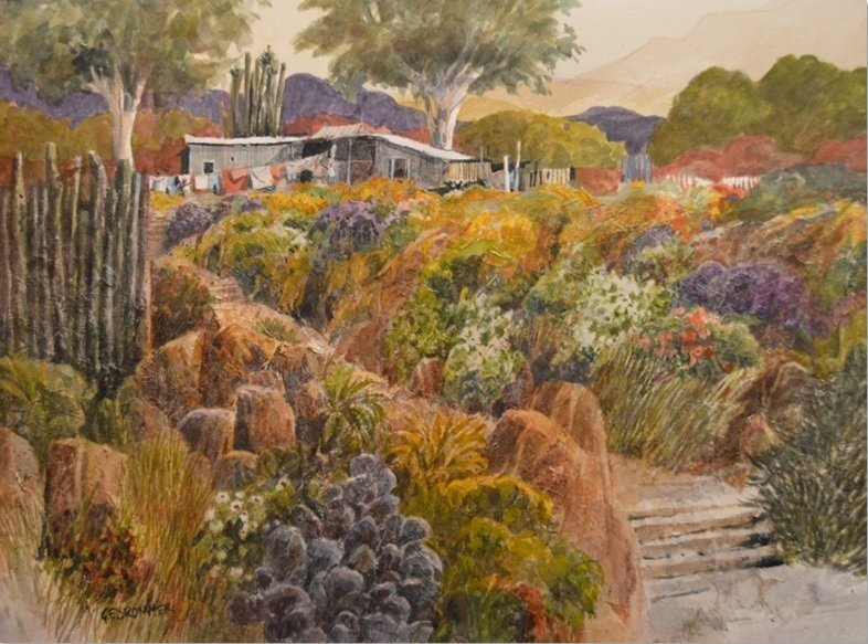 """""""Tropical Farmstead"""" by Gerald F. Brommer"""