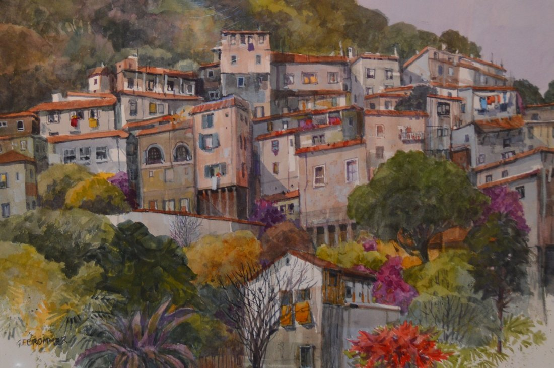 """""""View From Our Balcony/ Taxco"""" by Gerald F. Brommer"""