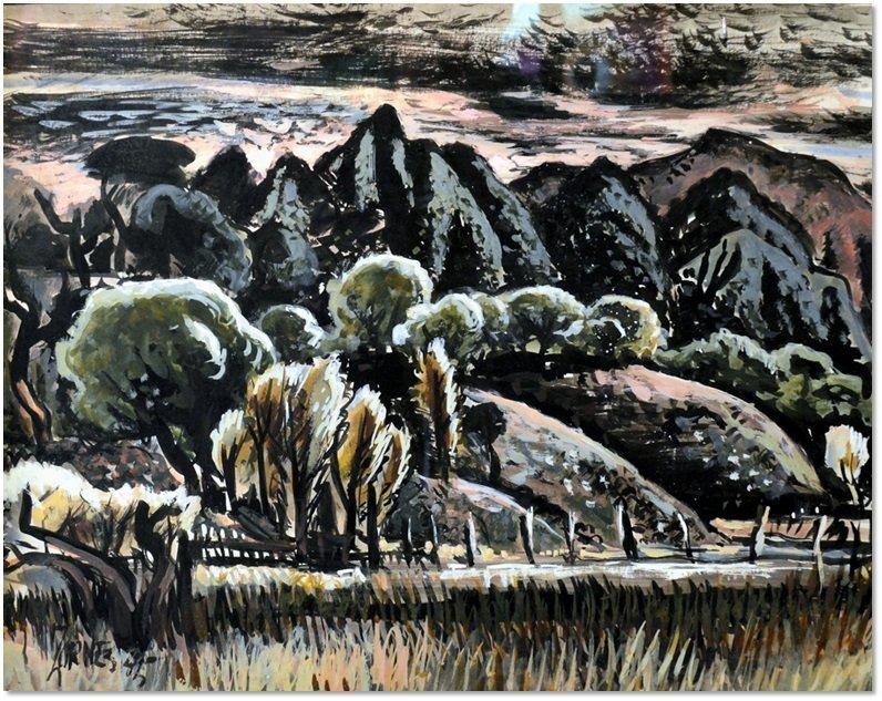 """Evening Patterns"" by Milford Zornes"