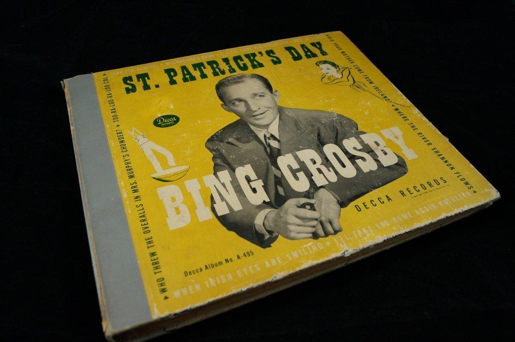 1946 BING CROSBY St. Patrick's Day 5 LP Album Decca