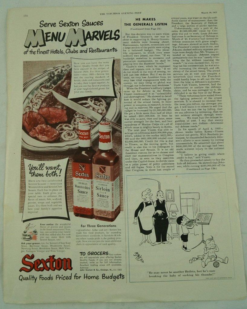 Hopalong Cassidy Acme Cowboy Boots Ad, Saturday Evening - 4