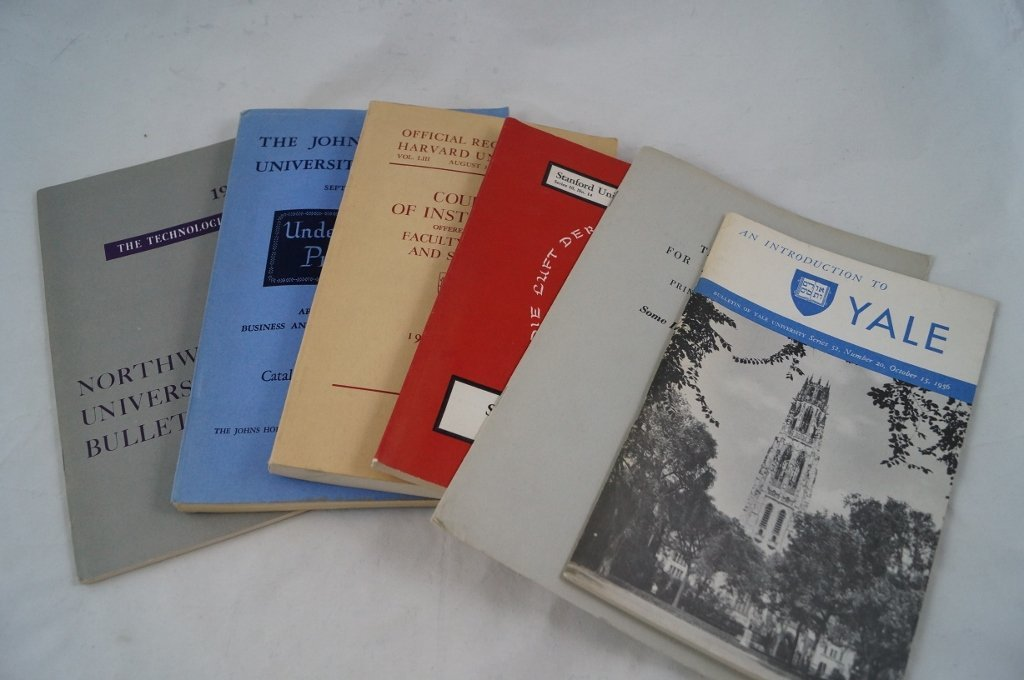University Bulletins, YALE STANFORD HARVARD Ephemera 19