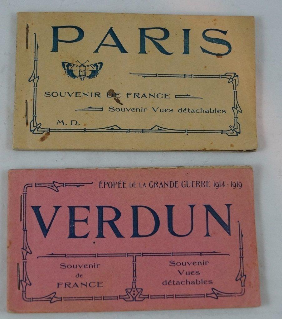 Verdun & Paris Postcard Album Souvenir Vues Detachables