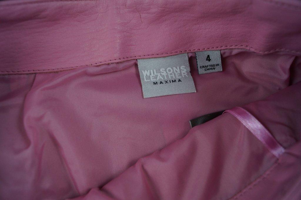 "Wilson Leather ""Maxima"" Pink Full Zipper Mini Skirt - 3"