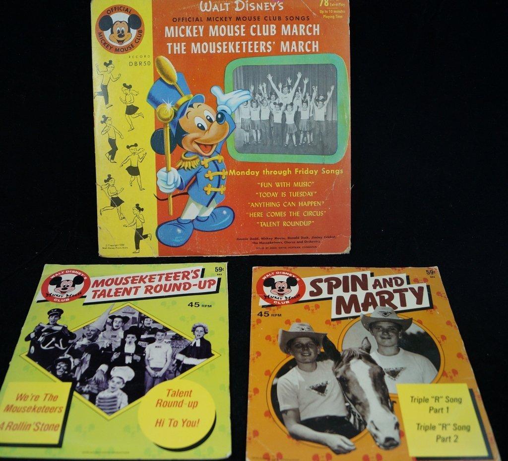 Mickey Mouse Club Walt Disney Vintage Records LPs