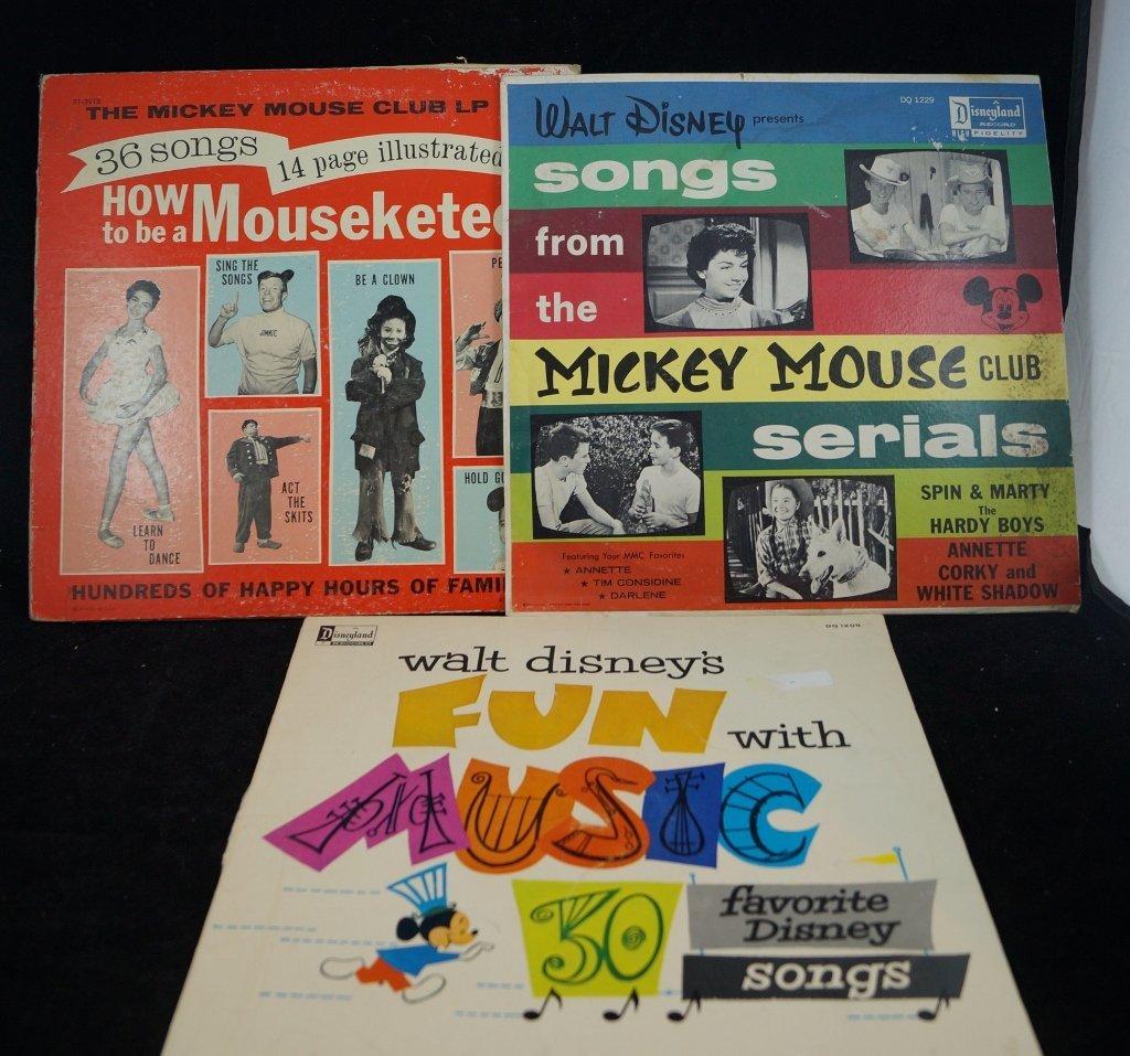1962 Disney Mickey Mouse Club LP's Original