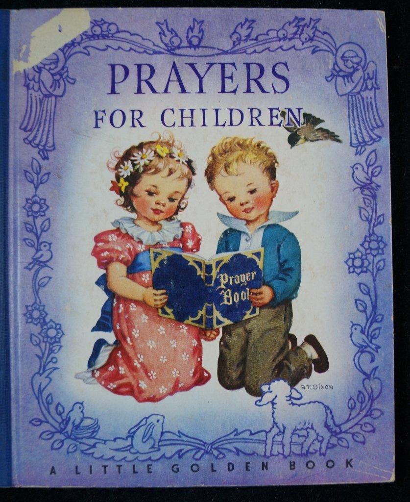 Prayers for Children Little Golden Book, Blue 1st Ed.