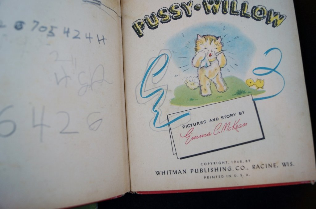 2 Tell-A-Tale Books Fanny Forgot, Pussy Willow Whitman - 4