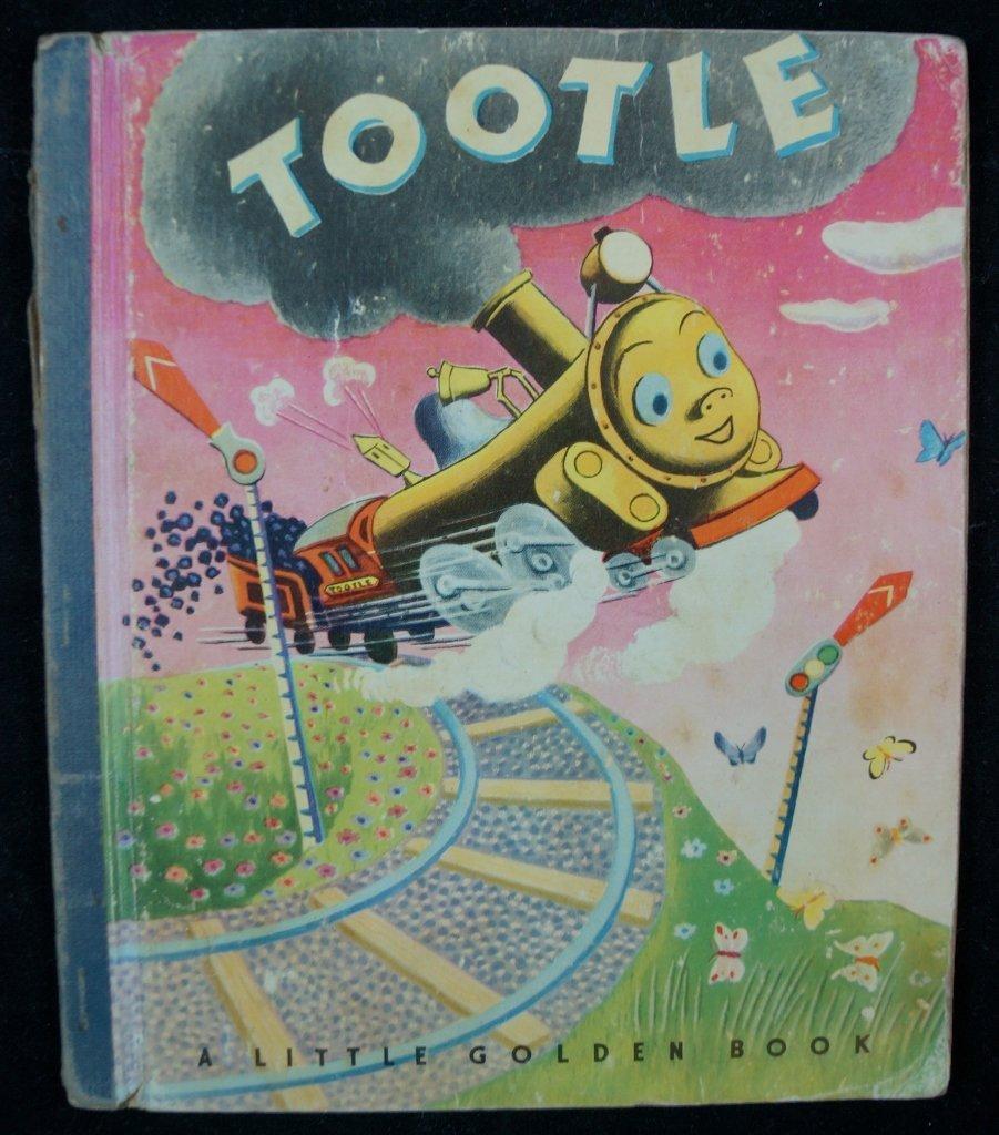 1947 Little Golden Book, Tootle, RARE Blue Spine