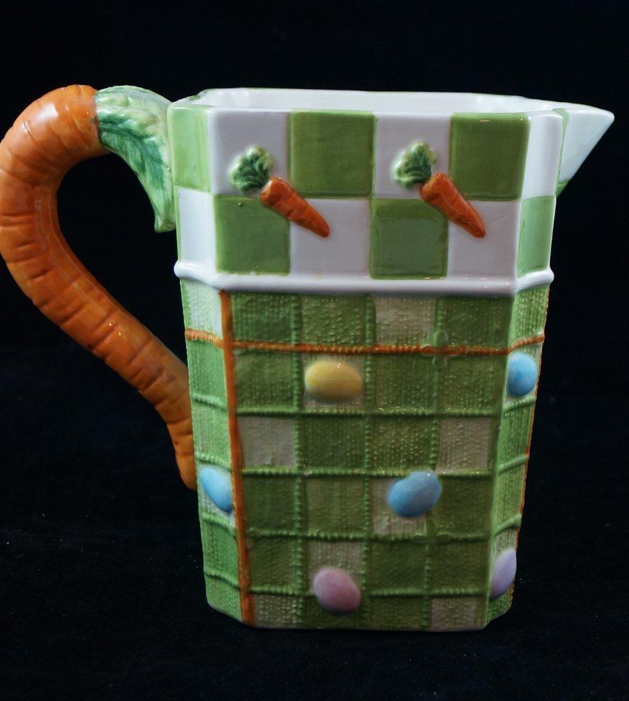 Decorative Ceramic Carrot Pitcher, Summer Vegetables
